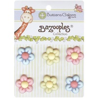 Bazooples Buttons- Multi Flowers