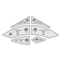 Creative Grids Diamond Wedding Ring Templates Quilt Ruler - CGRDIA