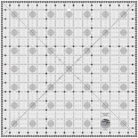 Creative Grids Charming Itty Bitty Eights Square XL 15in x 15in Quilt Ruler - CGRPRG4