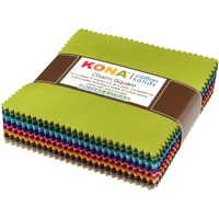 Kona Cotton Solids Dusty Colourstory Charm Squares -5in x 101pc
