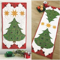 Pine Tree Banner Christmas Table Runner  Pattern by Cut Loose Press