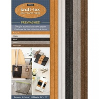 Kraft-Tex Vintage Kraft Paper Fabric Sampler-10 sheets PRE-WASHED