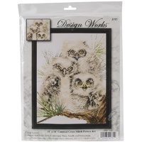 Owl Trio Counted Cross Stitch Kit
