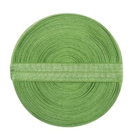 Fold Over Elastic Shiny 15 mm Wide - Bud Green