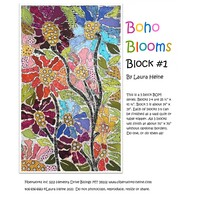 Laura Heine BOHO Blooms Block #1 Collage Pattern