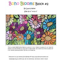 Laura Heine BOHO Blooms Block #2 Collage Pattern