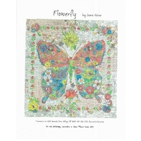 Laura Heine-Flowerfly a Butterfly Collage Pattern