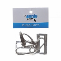 Bag Hardware Set Nickel 1-1/2in