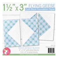 Foundation Paper - 1 1/2in x 3in Flying Geese Quilt Block Pad by Lori Holt