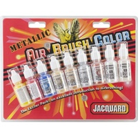 Jacquard Pack- Metallic Airbrush Color Pack .5oz 9/Pkg