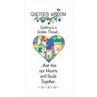 Jody Houghton - Quilters Wisdom 6in x 12in Heart Fabric Art Panel