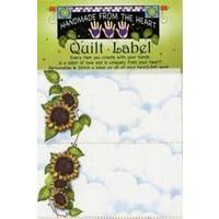 Jody Houghton - Sunflower Quilt Label 4 per pack