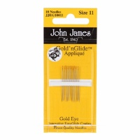 Gold n Glide Applique Hand Needles Size 11