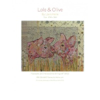 Laura Heine Lola and Olive Collage Pattern