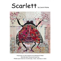 Laura Heine Scarlett The Ladybug Collage Pattern