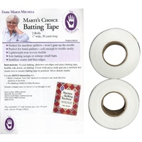 Marti Michell - Batting Tape Fusible Non Woven 1in x 30yds - 2 rolls per pack