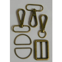 Bag Strap Hardware Bronze - 1 1/4 in