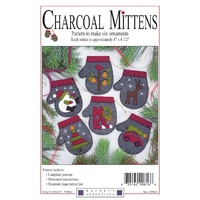 Ornament- Charcoal Mittens Pattern-6