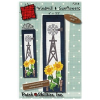 Windmill and Sunflowers Wall Hanging Pattern