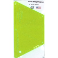 Half Hexie Hexagon Ruler 6.5in - Glow Edge
