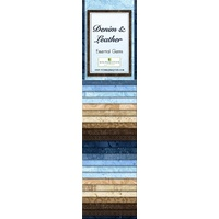 "Essential Gems-Denim & Leather Jelly Roll- 2.5"" - 24pc"
