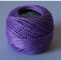 Rose Purple Pearl Cotton #8 10gm/95yds
