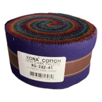 Kona Dark Palette Cotton Solids Jelly Roll- - 41pcs