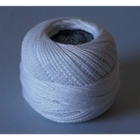 Rose White Pearl Cotton #8 10gm/95yd
