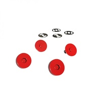 Magnetic Snaps - RED - 3/4 in wide