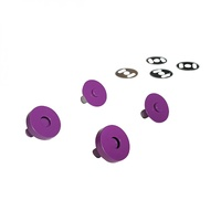 Magnetic Snaps - PURPLE - 3/4 in wide