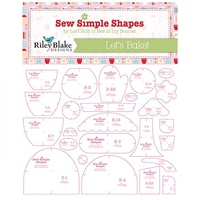 Lori Holt - Bee In my Bonnet Sew Simple Shapes Templates BAKE SALE 2