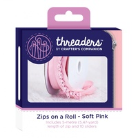 Threaders Zips on a Roll SOFT PINK