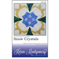 Snow Crystals Table Topper Pattern