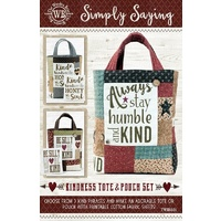 Patterns a la Carte Simply Saying- Kindness Tote & Pouch Set Pattern