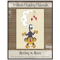Applique Pack -Monkey And Moon Precut Fused