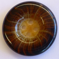 Plastic Marble Look Brown Button